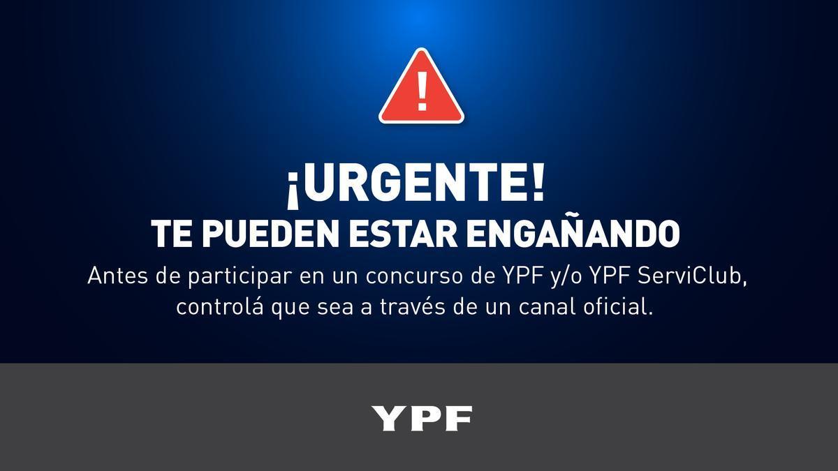 La advertencia de YPF
