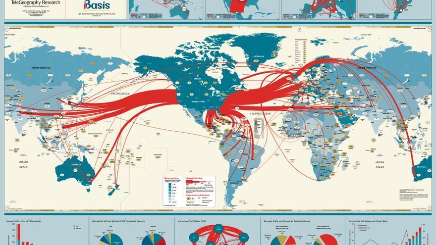 Global Internet map, 2005