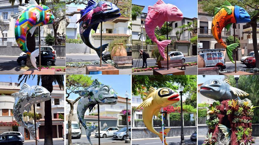 Las ocho esculturas radicadas en el paseo de las Tinajas, en el centro de la ciudad