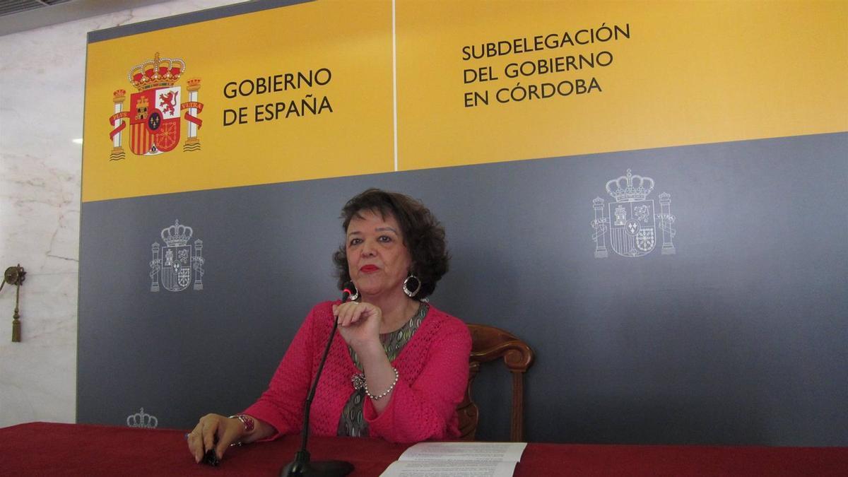 La delegada del Gobierno de la Nación en Córdoba, Rafaela Valenzuela, en una imagen de archivo.