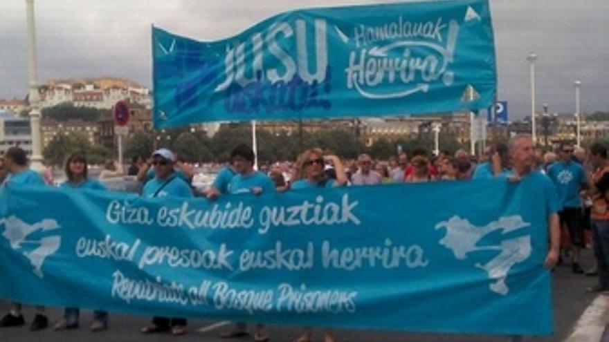 Manifestación de Herrira en San Sebastián
