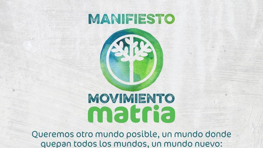 Cartel de lanzamiento del Movimiento Matria.