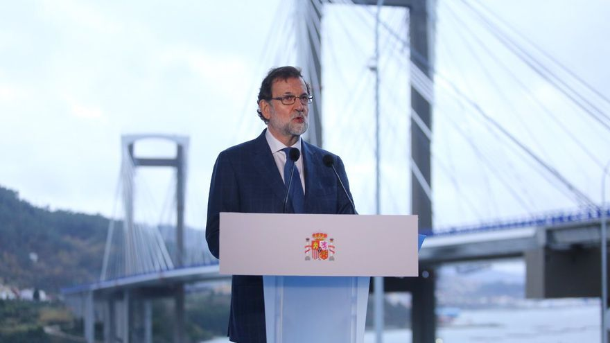 Rajoy, durante su discurso en la inauguración de la ampliación de la AP-9 en Rande