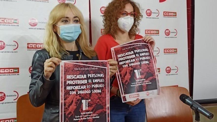 """CCOO y UGT se concentran este martes ante San Telmo para exigir """"rescatar personas, proteger el empleo y lo público"""""""