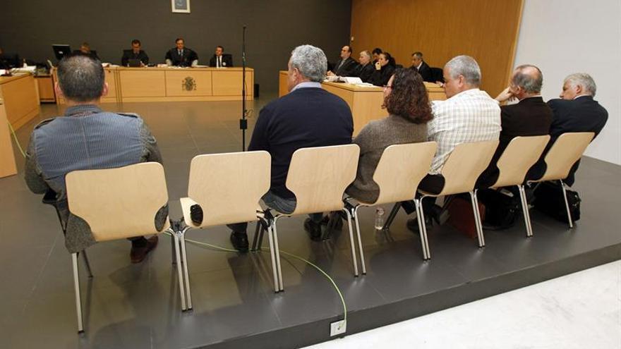 Banquillo de acusados en el juicio del caso Grupo Europa