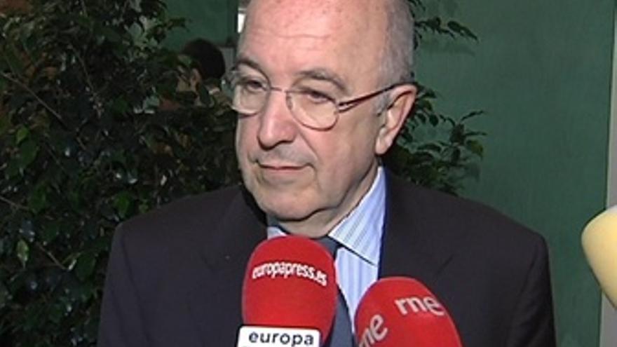 El Comisario Europeo Joaquín Almunia