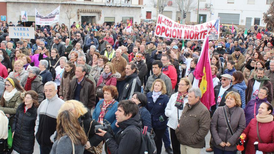 Manifestación en Piedrabuena (Ciudad Real) por la mejora de la N-430