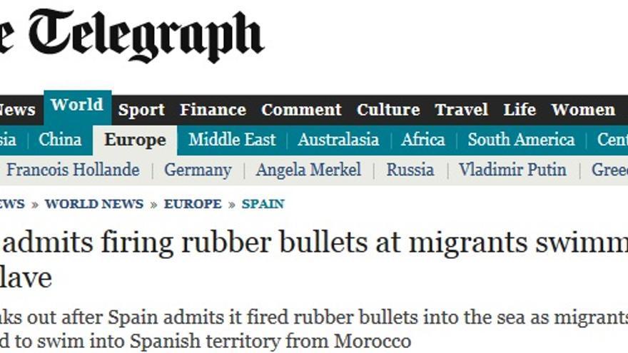 The Telegraph, sobre la tragedia en Ceuta.