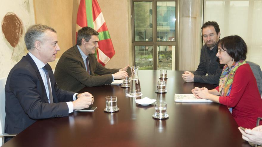 Urkullu y Fernández, con los portavoces de Gure Esku Dago