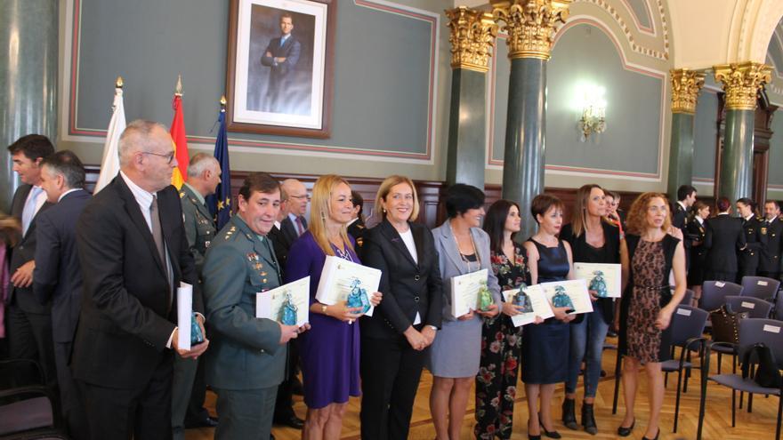 Acto institucional celebrado en la Delegación del Gobierno en Canarias para conmemorar el Día Internacional para la Eliminación de la Violencia contra la Mujer.