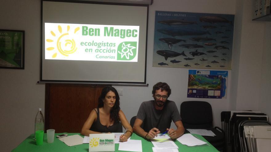 Noelia Sánchez y José Guillén, de Ben Magec-Ecologistas en Acción.