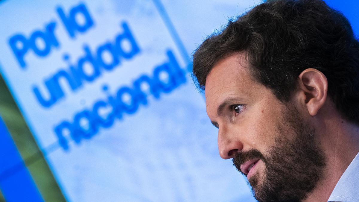 El líder del PP, Pablo Casado, la semana pasada.