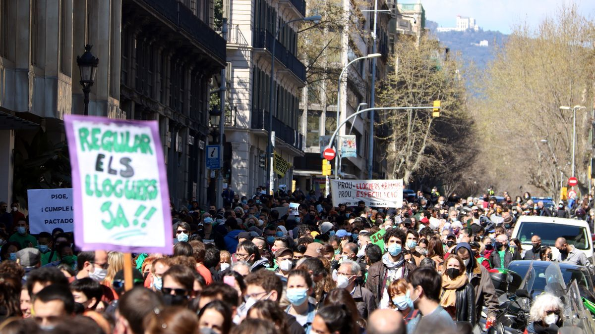 Manifestación en Barcelona por los alquileres