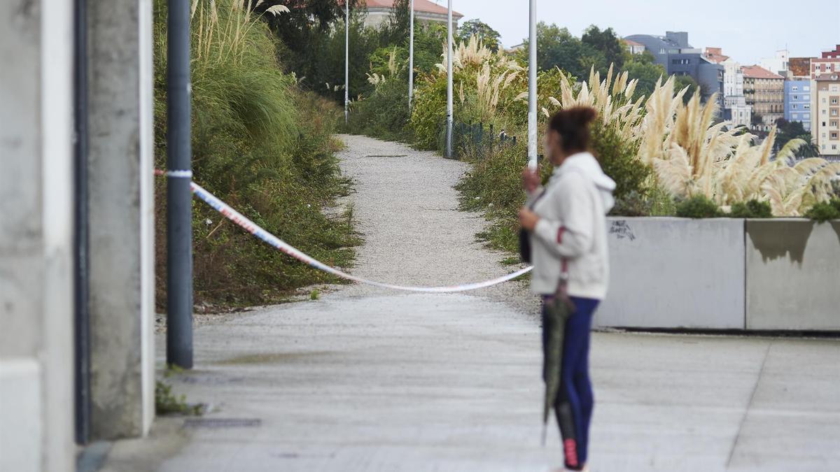 El lugar donde se encontró el cuerpo, en la Peña del Cuervo en Santander.