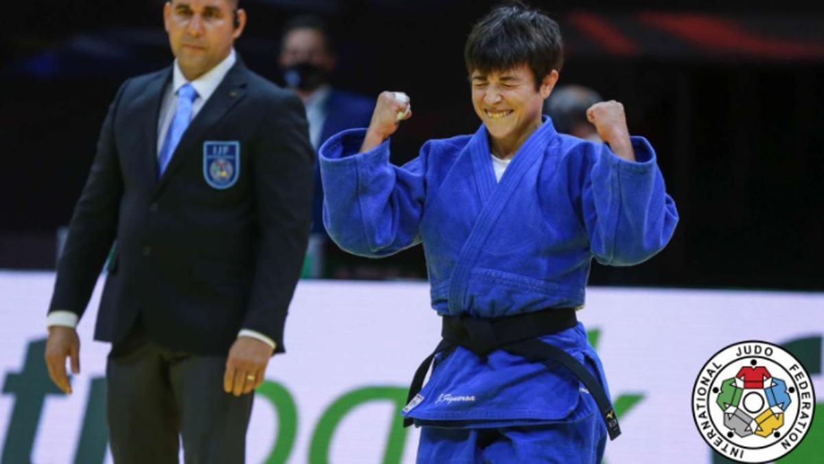 Julia Figueroa, tras lograr el bronce en el Mundial de Budapest