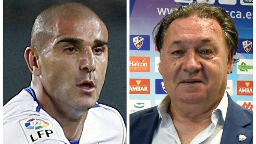 Carlos Aranda, y el presidente del Huesca, Agustín Lasaosa, detenidos en la operación contra el presunto amaño de partidos de fútbol en Primera y Segunda División