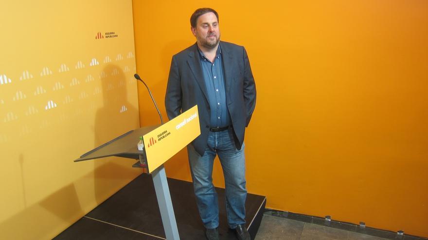 """Junqueras (ERC) pide a la CUP que su decisión permita """"avanzar hacia la independencia"""""""