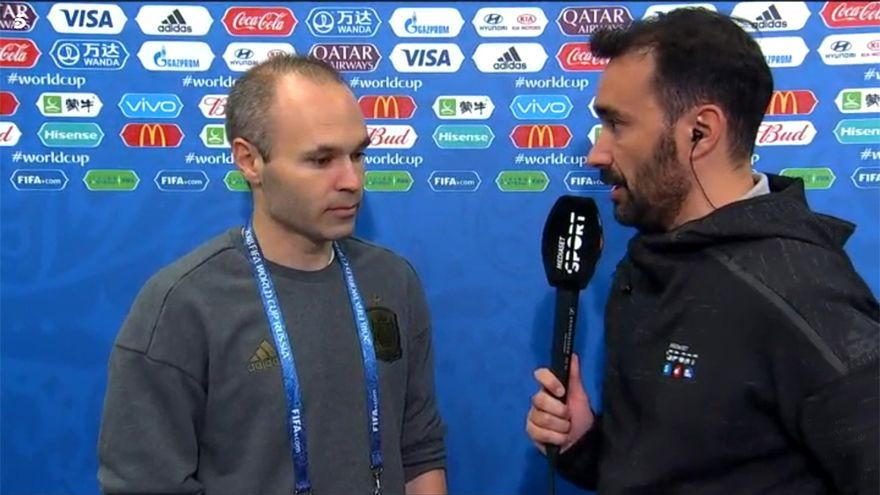 Juanma Castaño e Iniesta en el Mundial de Rusia 2018