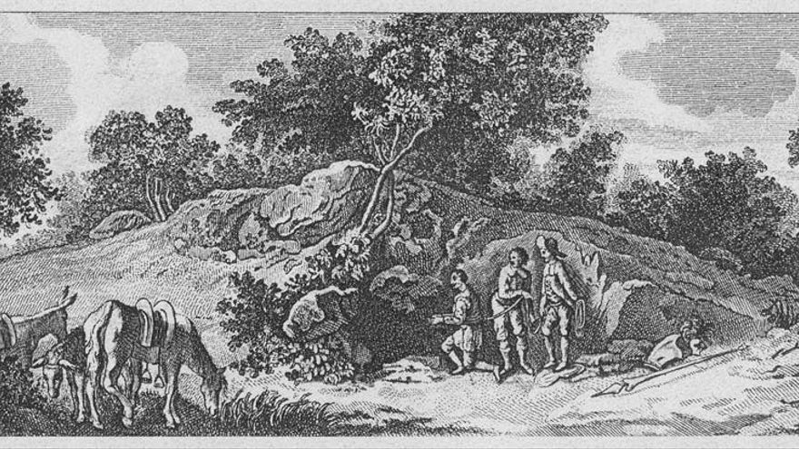 Ilustración del Centro Virtual Cervantes sobre la Cueva de Montesinos