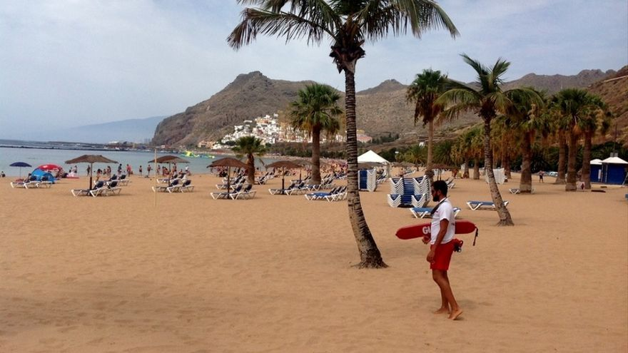 Playa de Las Teresitas, en Santa Cruz de Tenerife / Rosa C.