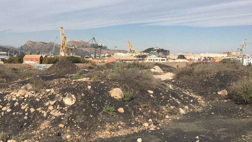 Terrenos afectados por los metales pesados en Cartagena
