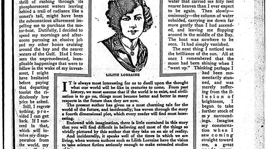 Lorraine escribió sobre utopías socialistas y feministas