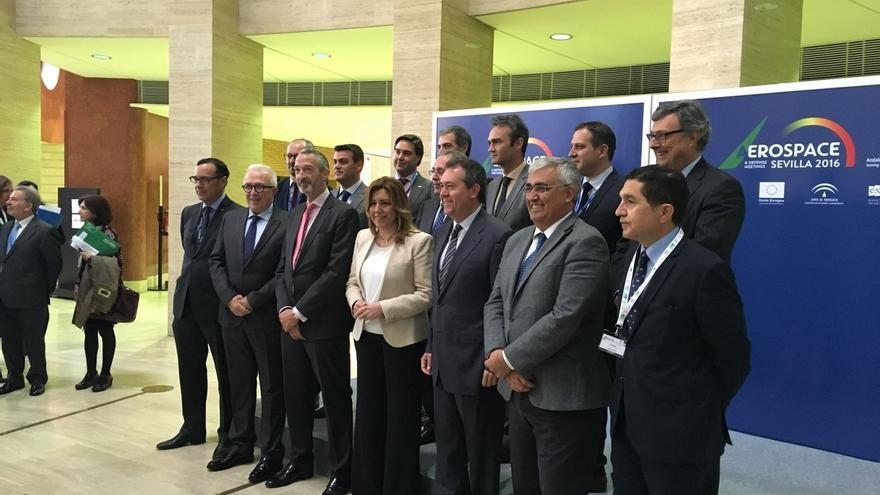 """Díaz pide una """"estrategia nacional"""" de apoyo a la industria aeronáutica que valore el potencial del sector"""