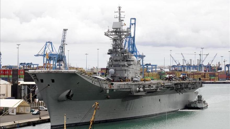 El portaaviones 'Príncipe de Asturias' causará baja en la Armada en junio
