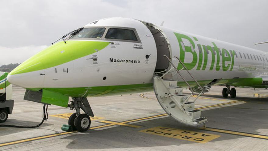 Avión de Binter para vuelos internacionales.