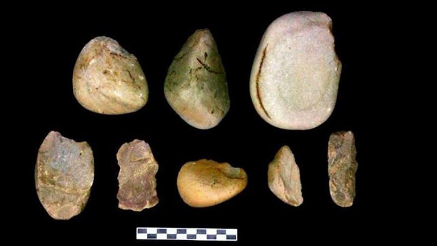 Herramientas encontradas en La Alcarria conquense que los arqueólogos datan un millón de años atrás