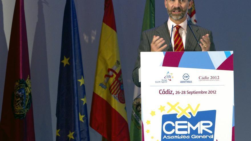 """El príncipe de Asturias destaca el """"papel fundamental"""" de los gobiernos locales"""