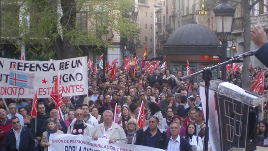 José Luis Gil en la huelga general de marzo de 2012