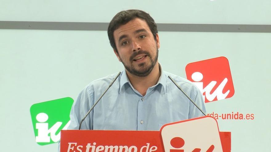 Garzón admite a los militantes la derrota de Unidos Podemos pero defiende la coalición