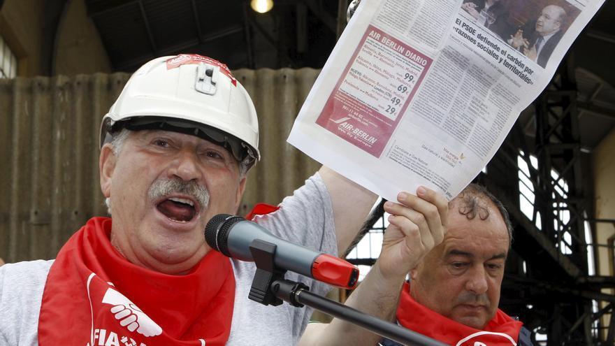 José Ángel Fernández Villa durante una protesta en 2012. EFE