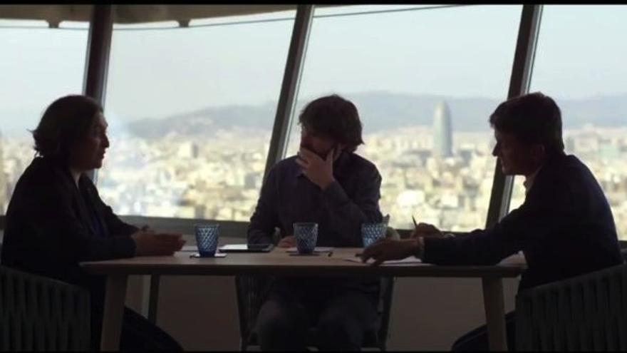 Valls y Colau, durante el debate