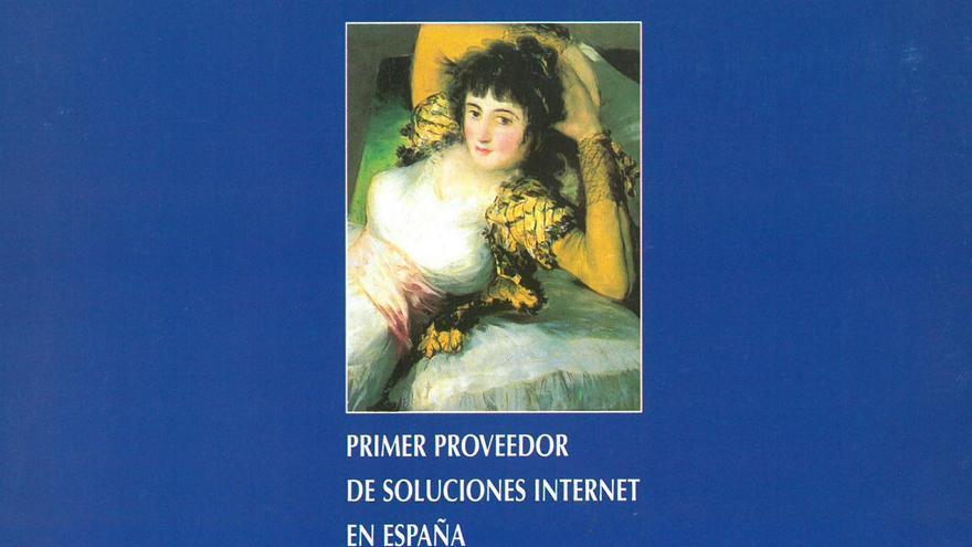 Primeros folletos de Goya Servicios Telemáticos, el primer proveedor de internet en España