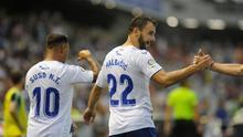 Malbasic celebra su gol al CD Numancia