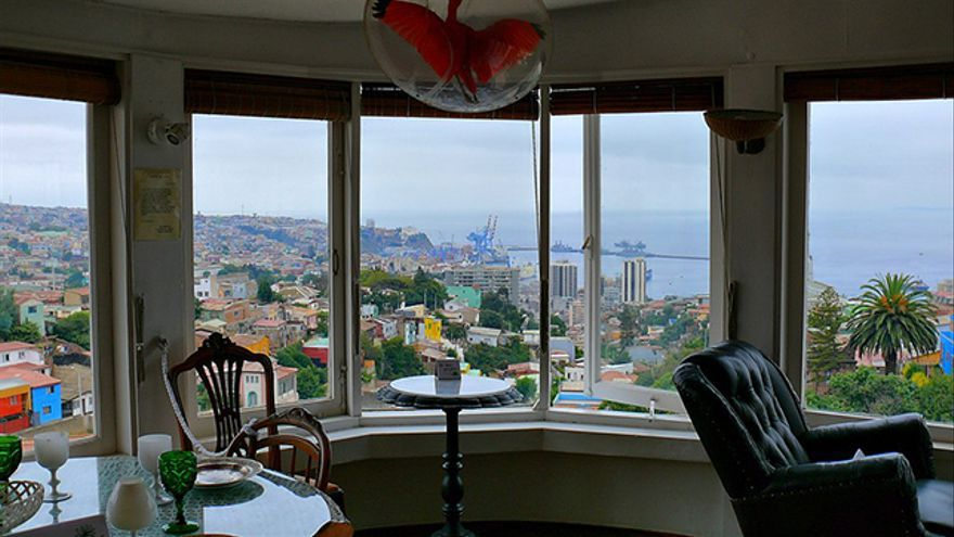 Casa de La Sebastiana de Pablo Neruda en Valparaíso, Chile