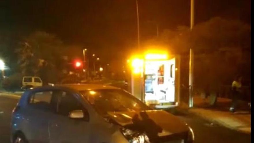 Imagen del accidente en la avenida Eusebio Barreto.