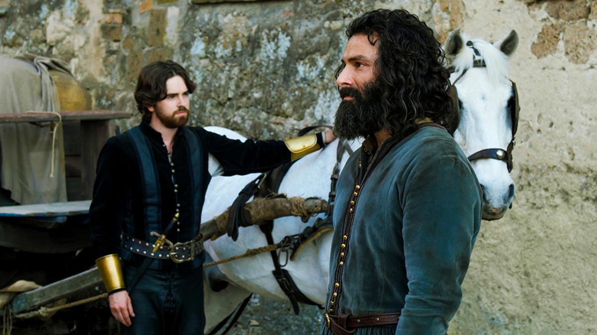 Freddie Highmore y Aidan Turner en 'Leonardo'