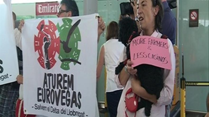 Protesta contra el Eurovegas en Barcelona