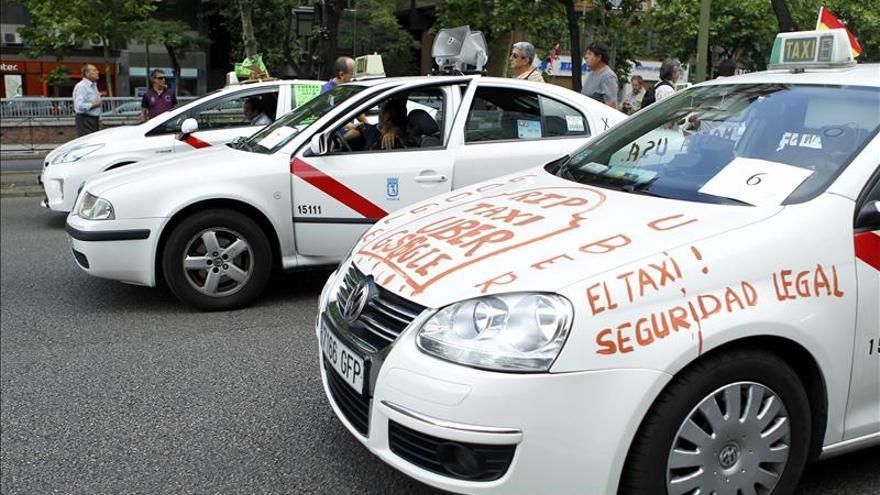 La protesta del taxi causa problemas de tráfico en grandes ciudades europeas