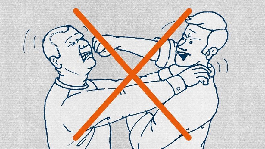 Guía para refugiados: no se pegue con nadie.