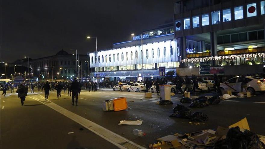 Detenidas 14 personas en Madrid, 3 menores, en una protesta en apoyo a Gamonal