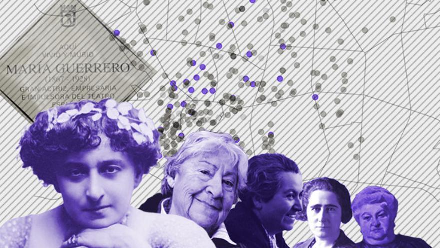 En Madrid hay más placas conmemorativas dedicadas a edificios que a mujeres