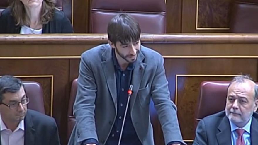 Álvaro Sanz, en el Congreso de los Diputados. Foto: IU