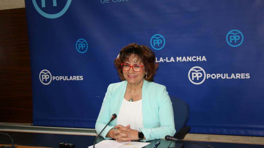 Carmen Riolobos, en rueda de prensa en Toledo