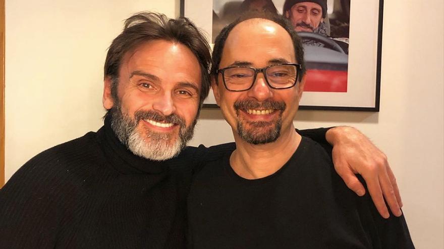 Fernando Tejero y Jordi Sánchez posan juntos