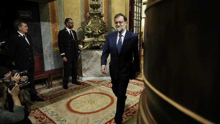 Rajoy, satisfecho del apoyo que le han reiterado hoy Sánchez y Rivera