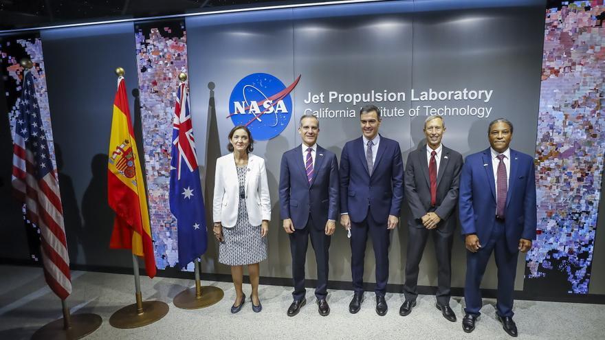 Sánchez promociona la tecnología aeroespacial española en el JPL de la NASA